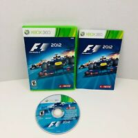 F1 2012 Microsoft Xbox 360 Video Game Complete With Manual
