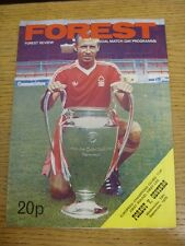 19/09/1979 Nottingham Forest v Oesters [European Cup] . Condition: We aspire to