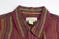 MINT Territory Ahead 100% Linen Stripe LONG SLEEVE SHIRT 2XLT 18 x 40/41