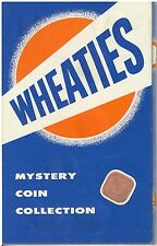 Vintage 1950s Wheaties Mystery Coin Collection Folder Premium Giveaway