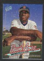 1997 FLEER ULTRA PLATINUM MEDALLION #518 DAVID ORTIZ RARE ROOKIE CARD VG-EX COND