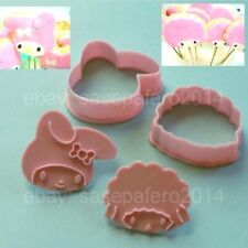 Hello Kitty characters: My Melody and Kiki - Lala cookie cutter with stamp 4pcs.