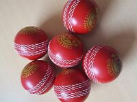 PVC Poly Hard cricket Balls for practice , box of 6-red, orange