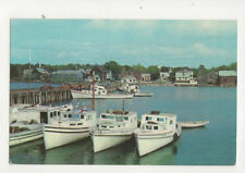 Fishing Boats In Harbour New Brunswick Canada Postcard US047
