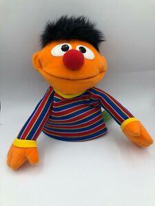 Official 2015 Gund Sesame Street Bert & Ernie Hand Puppet Plush Soft Stuffed Toy