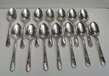 Wm Rogers Devonshire Mary Lou Set of 14 Teaspoons Silverplate Flatware    IS