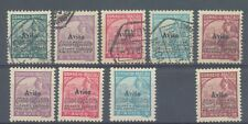 Macao 1936 Air overprints 359-60, 362-4 used and 360, 362-3 no gum and 364 MH