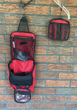 LL Bean Travel Toiletry Bag Personal Organizer Hanging Water Resistant Nylon Red