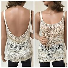 Jose Arellanes- Handmade One of a Kind. Loose stitched crochet tank. SM/MED