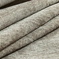 10 Metres Of Shimmer Shine Curtain Sofa Upholstery Chenille Fabric Silver Colour
