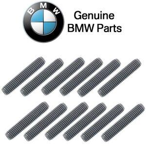 For BMW GENUINE 1602 2002 318I 325IS 528I 530I 735I Exhaust Manifold Stud 12 PCS