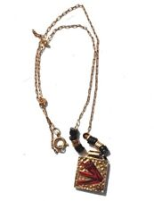 Vintage Gold Retro Mod Artistic Hipster Necklace Jewelry