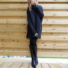 Fashion Women's Oversized Loose Knit Sweater Turtleneck Long Sleeve Pullover