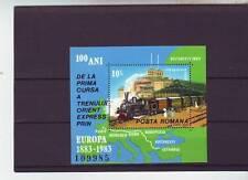 A121-Romania-sgms4829 MNH 1983 CENTENARIO DELL' ORIENT EXPRESS TRENO servizio