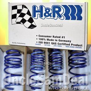 """H&R LOWERING SPORT SPRINGS SET MERCEDES-BENZ W204 C300 C350 RWD SEDAN 1.4""""F DROP"""