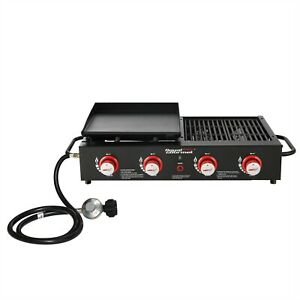 Royal Gourmet 4-Burner Portable Propane Gas Grill & Griddle Combo GD4002T