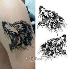 Indian Western Wolf Coyote Arm Leg Body Waterproof Temporary Tattoo Sticker H8