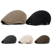 HK- Mens Ivy Hat Cotton Gatsby Cap Golf Driving Summer Sun Flat Cabbie Newsboy W