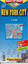 Map of New York City, NY, USA, Laminated & Folded by Berndston Maps