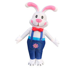 US Seller Easter Bunny Rabbit Inflatable Costume Cosplay Adult Halloween Summer