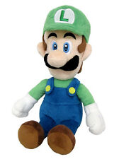 "Authentic 10"" Luigi Stuffed Plush Sanei AC02 Super Mario All Star Series"