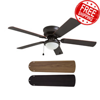Harbor Breeze Bedroom Ceiling Fan LED Light Kit Bronze Armitage 5-Blade 52-inch