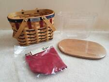 Longaberger 2003 Bee Basket Combo - American Patriotic Red White Blue New