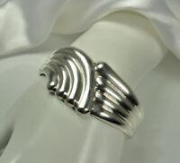 Vintage LOS BALLESTEROS TAXCO Bracelet 39g STERLING Silver Modernist Cuff FAB!!!
