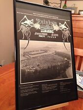 "Big 11X17 Framed ""Monsters Of Rock 1980"" Concert Promo Ad Judas Priest Scorpions"