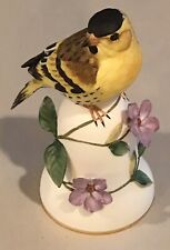 The Franklin Mint Porcelain Bell 1987 The Siskin By Peter Barrett