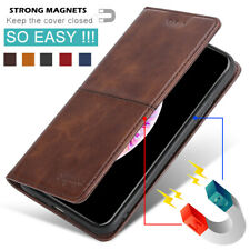 For Motorola Moto One Hyper Shockproof Luxury Magnetic Leather Wallet Case Cover