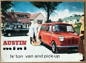 AUSTIN MINI ¼ TON VAN & PICK UP Sales Brochure c1960 #1874/D