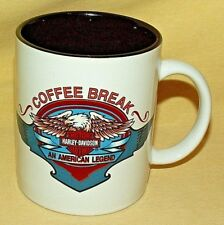 HARLEY DAVIDSON MUG MOTORCYCLES COFFEE BREAK CLOTHES CUP 1996 AMERICAN LEGEND.