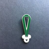 WDW - 2010 Hidden Mickey Completer Pin - Lanyard - Green PWP Disney Pin 77198