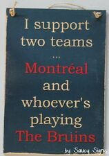 Montreal versus The Bruins Hockey Sign Wooden Canada Boston Sports Bar Pub