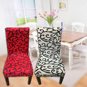 1Pc Stretch Floral Printed Chair Cover Dining Slipcovers Seat Protector Covers