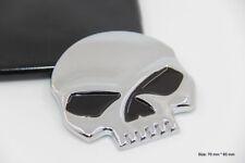 B164 Schädelkopf Skull head Auto 3D Emblem Badge Aufkleber Tod Car Sticker chrom