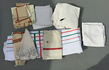 Lot linge de maison torchons serviettes nappe bonne qualité french antique