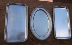 CHRISTOFLE SET OF 3 TRAYS MALMAISON PATTERN