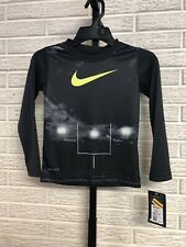 NIKE little boys dri-fit tee shirt top black stretch sz 4 NEW $20 #O250