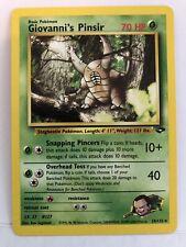 New listing Giovanni's Pinsir - NM Non Holo Rare - 24/132 Gym Challenge Vintage Pokemon Card