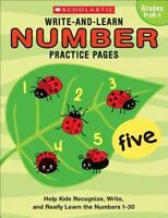 Number Practice Pages (Write-and-Learn, Grades PreK-1)
