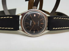 RARE VINTAGE EBERHARD BLACK DIAL DATE AUTOMATIC MAN'S WATCH