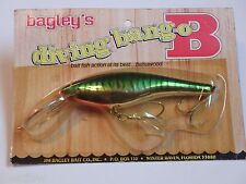 Bagley's Diving Bang O B 6 All Brass F69S Fishing Lure NIP Wood Grain Pack!