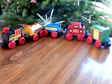 VTG Wooden Midget Railway The Montgomery Schoolhouse Inc. Vermont set of Five