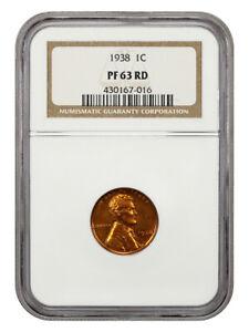 1938 1c NGC PR 63 RD - Lincoln Cent