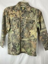 """Cabela's Youth Camo Button Up Shirt Long Sleeve Size 12 Chest 38"""""""