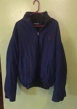 $300 MSRP Nautica Reversible Puffer Parka Jacket Coat Mens XL LEATHER COLLAR