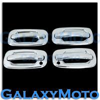 00-06 Chevy Tahoe+Suburban Triple Chrome ABS 4 Door Handle+PSG KH Cover Kit Set
