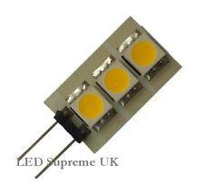 G4 3 LED SMD 12V AC/DC 0.6W 35LM White Bulb ~8W